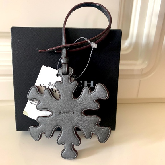 Coach snowflake ❄️ leather bag charm